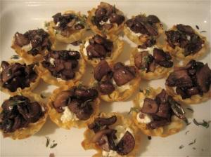 Mushroom & Goat Cheese Tartlets