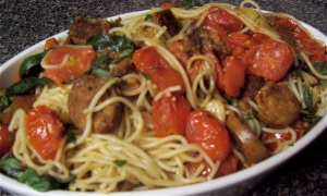 Roasted Tomatoes & Italian Sausage