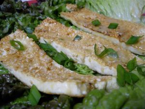 Sesame Seared Tofu w/Honey Miso Vinaigrette