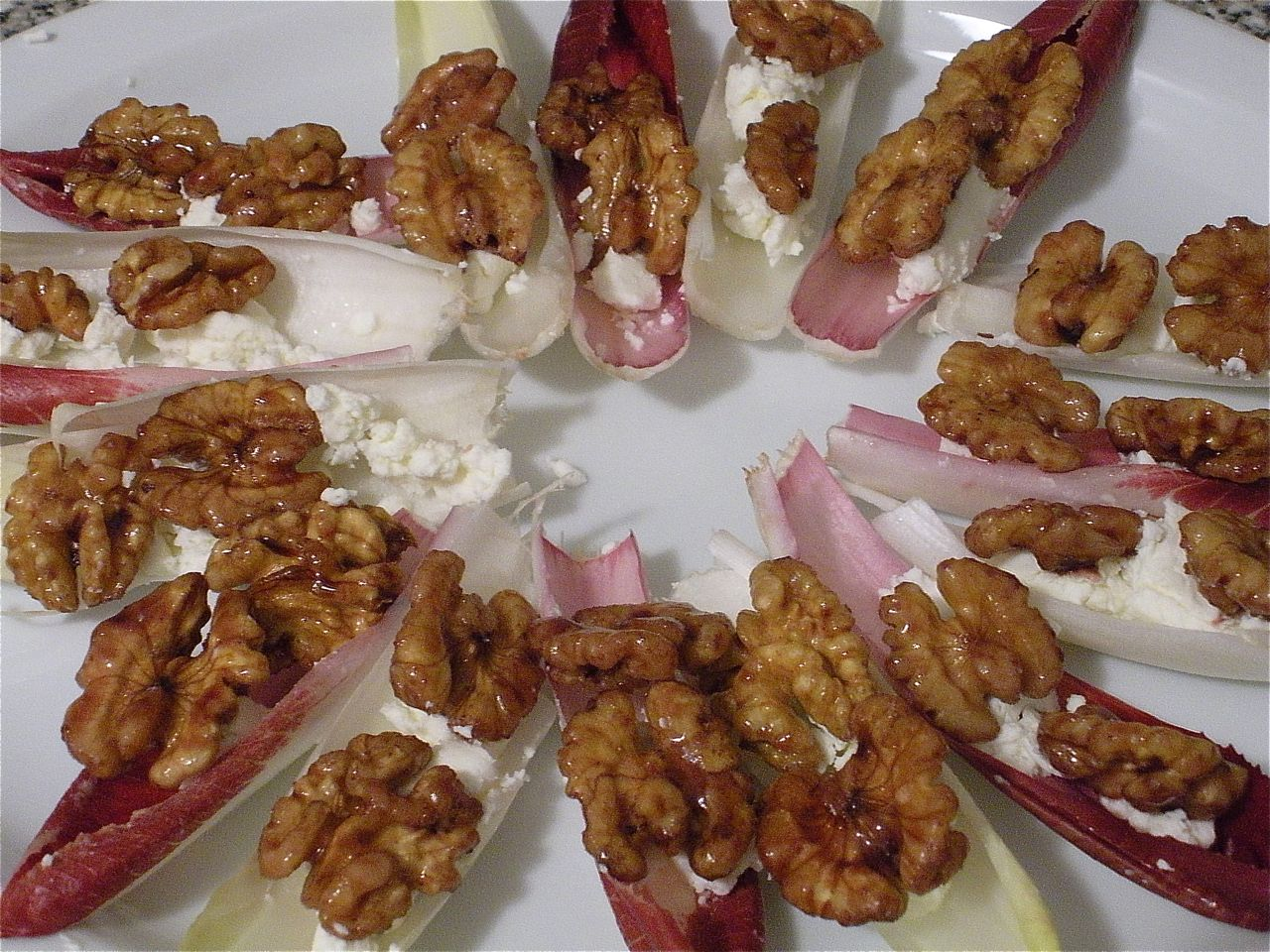 Port Glazed Walnuts, Goat Cheese and Endive