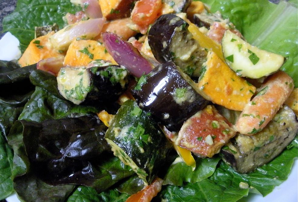 Sweet Tahini Roasted Vegetable Salad-The Duo Dishes