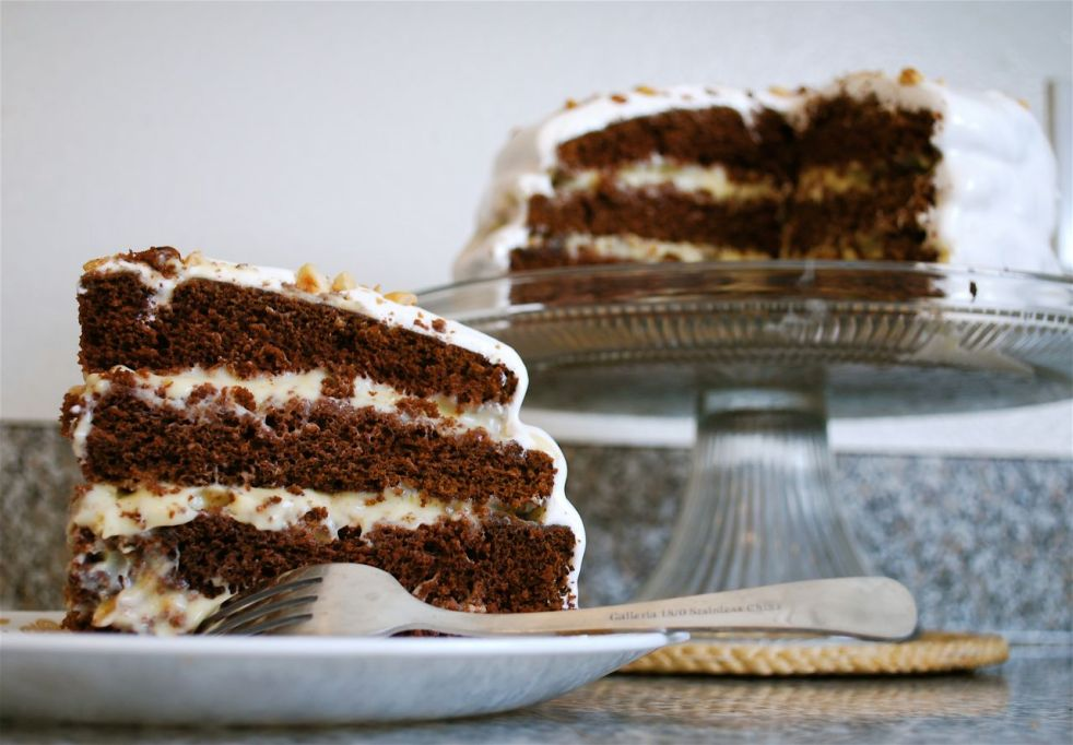 Chocolate Hazelnut Cake slice-Duo Dishes
