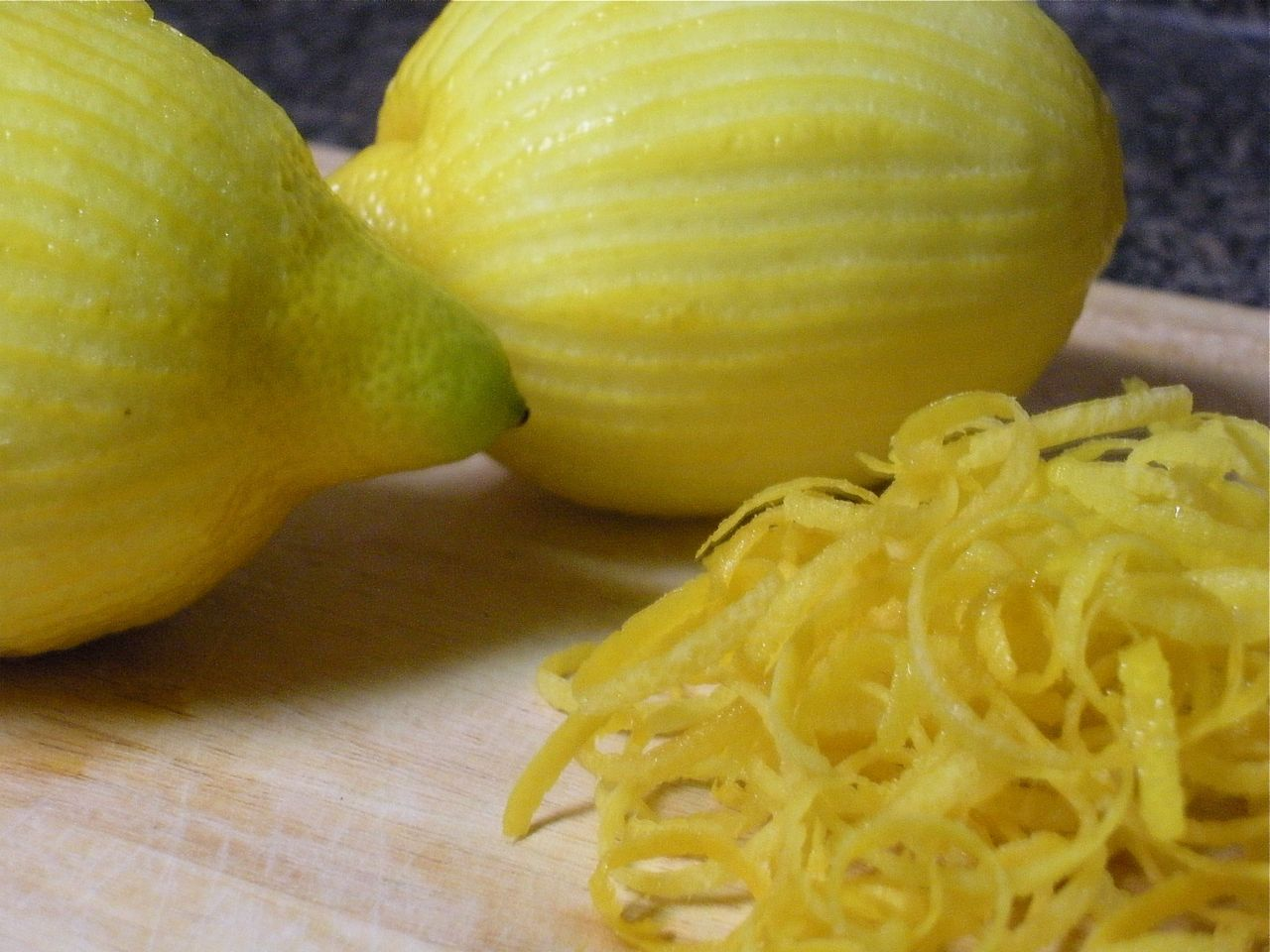 Lemon and zest