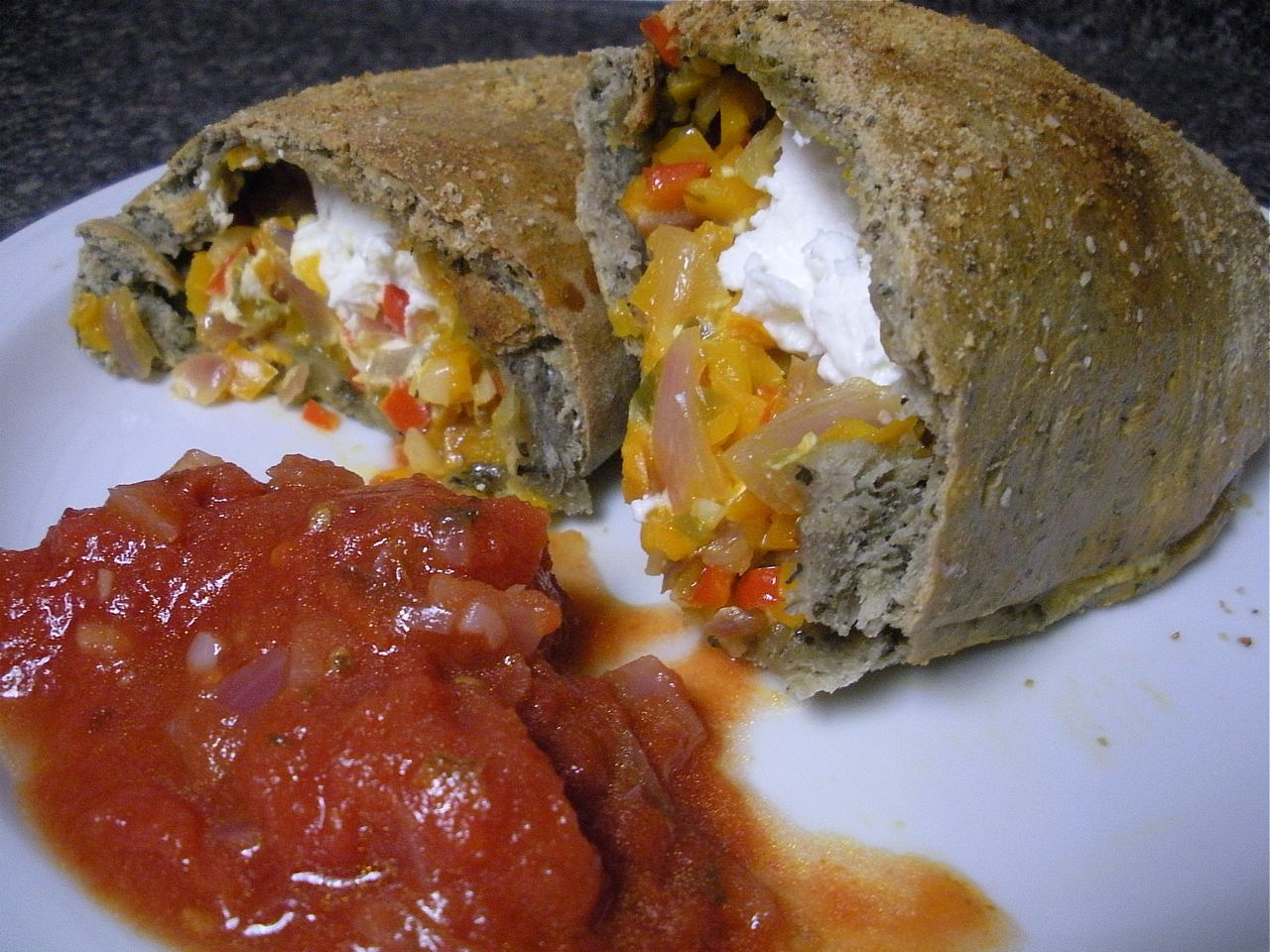 Goat Cheese and Peppers Pocket-The Duo Dishes