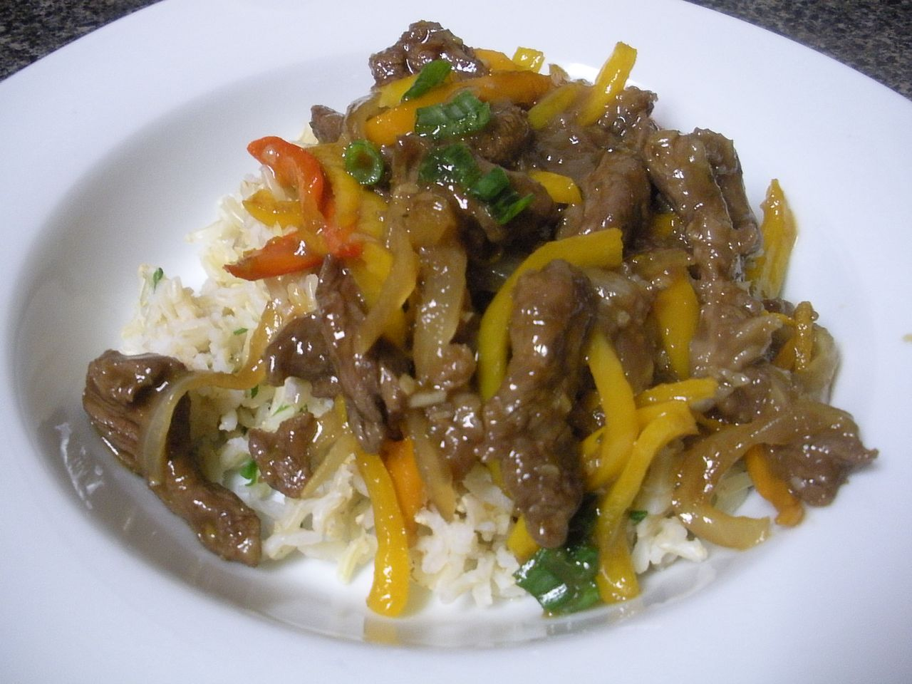 Orange Beef and Peppers-The Duo Dishes