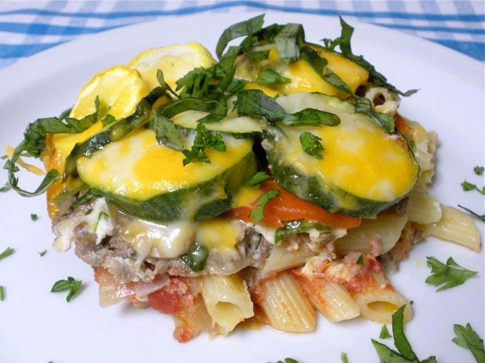 Beef and Vegetable Pasta Bake--The Duo Dishes