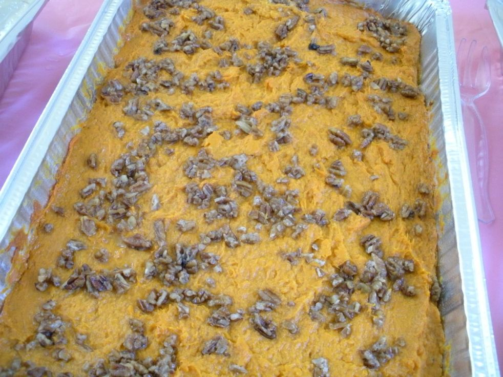 Mashed sweet potatoes with pecans-Duo Dishes