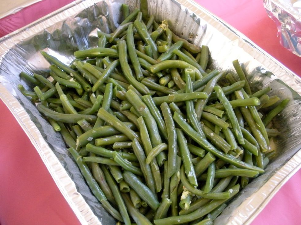 Lemon garlic green beans-Duo Dishes