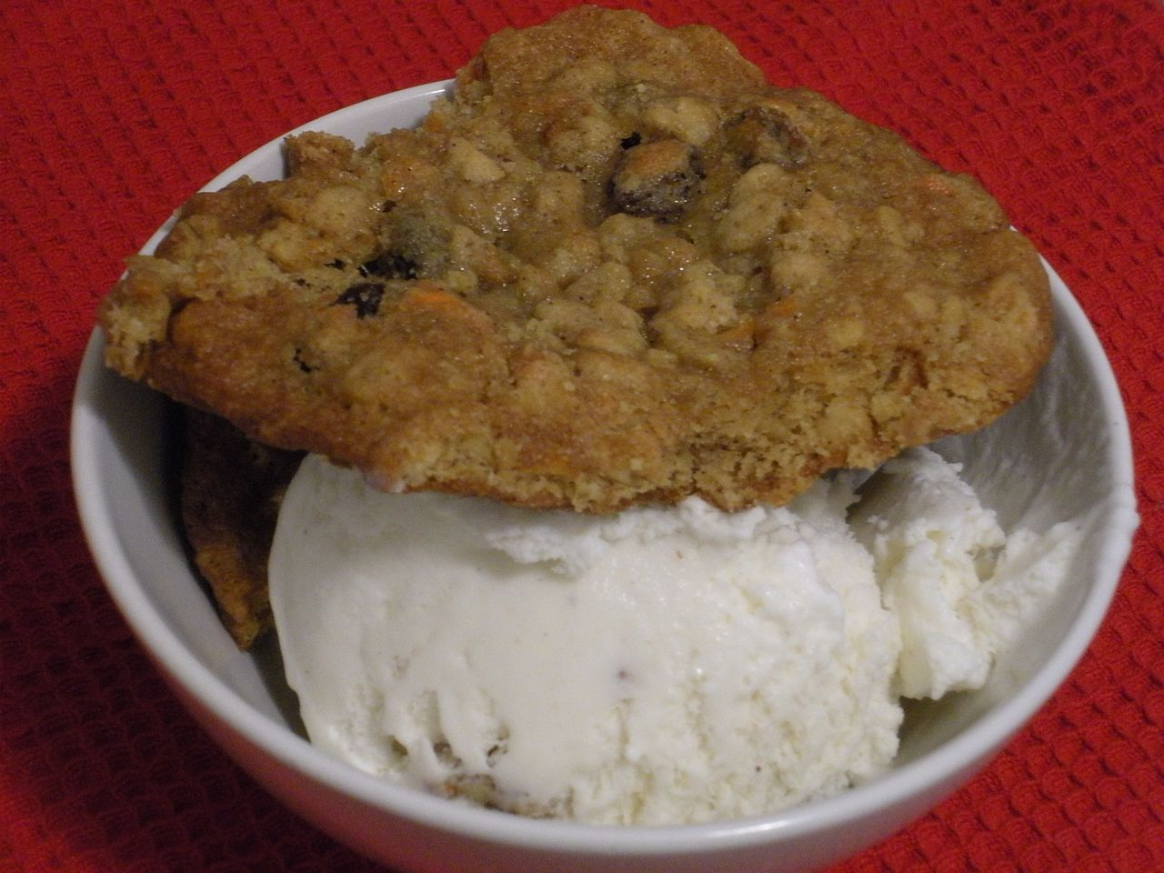 Fresh cookies with a 'lil ice cream on the side.