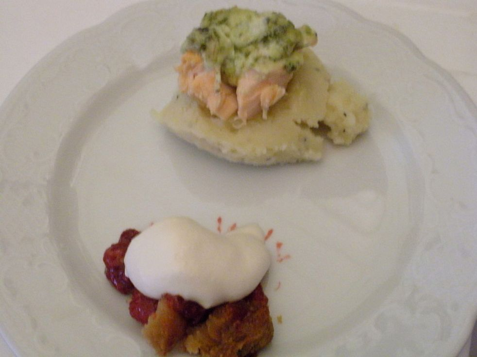 Salmon with mashed potatoes-Duo Dishes