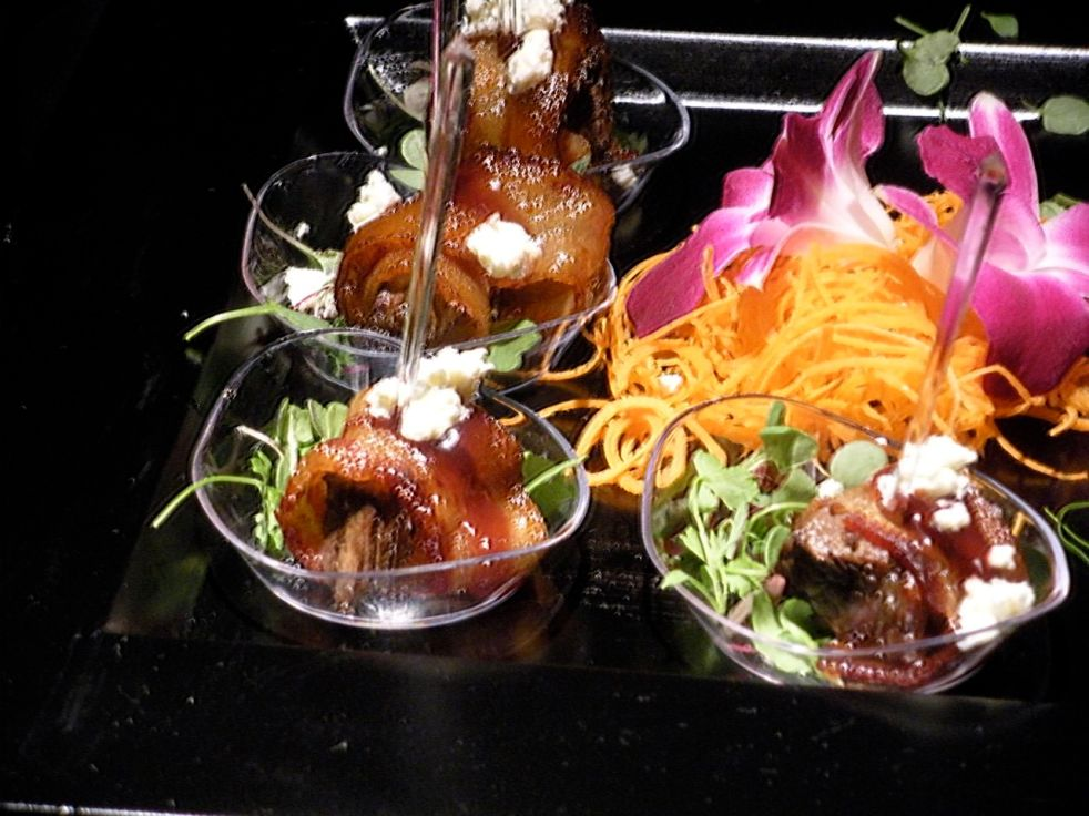 Bacon wrapped filet mignon-Duo Dishes