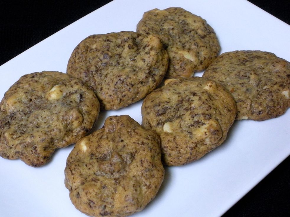 Triple Chocolate Almond Cookies-Duo Dishes