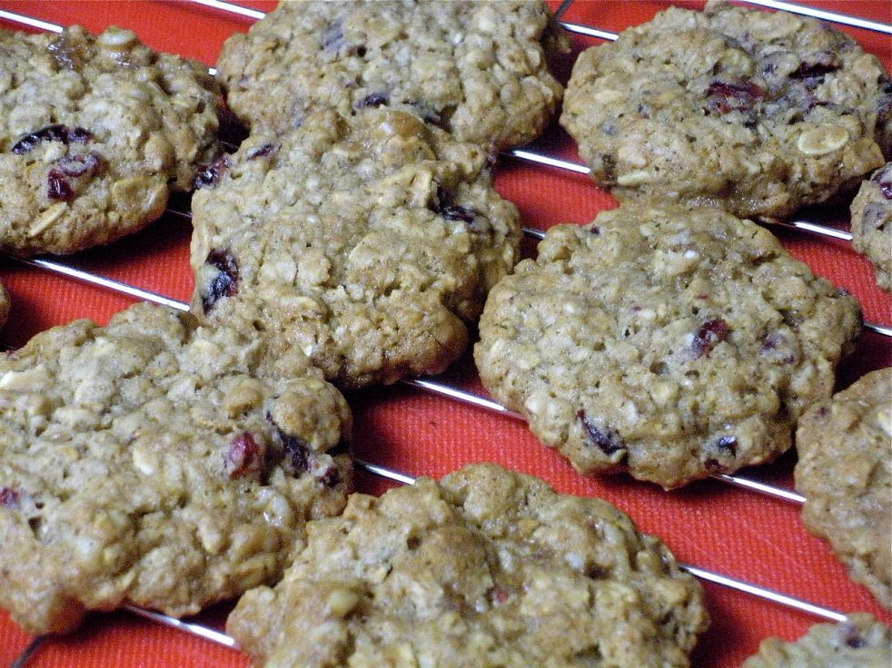 Honey Oatmeal Walnut Cranberry Cookies-Duo Dishes