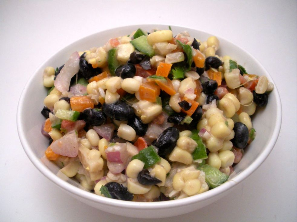 Honey Roasted Corn and Black Bean Salad-Duo Dishes