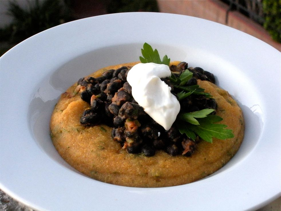 Polenta and Black Beans-Duo Dishes