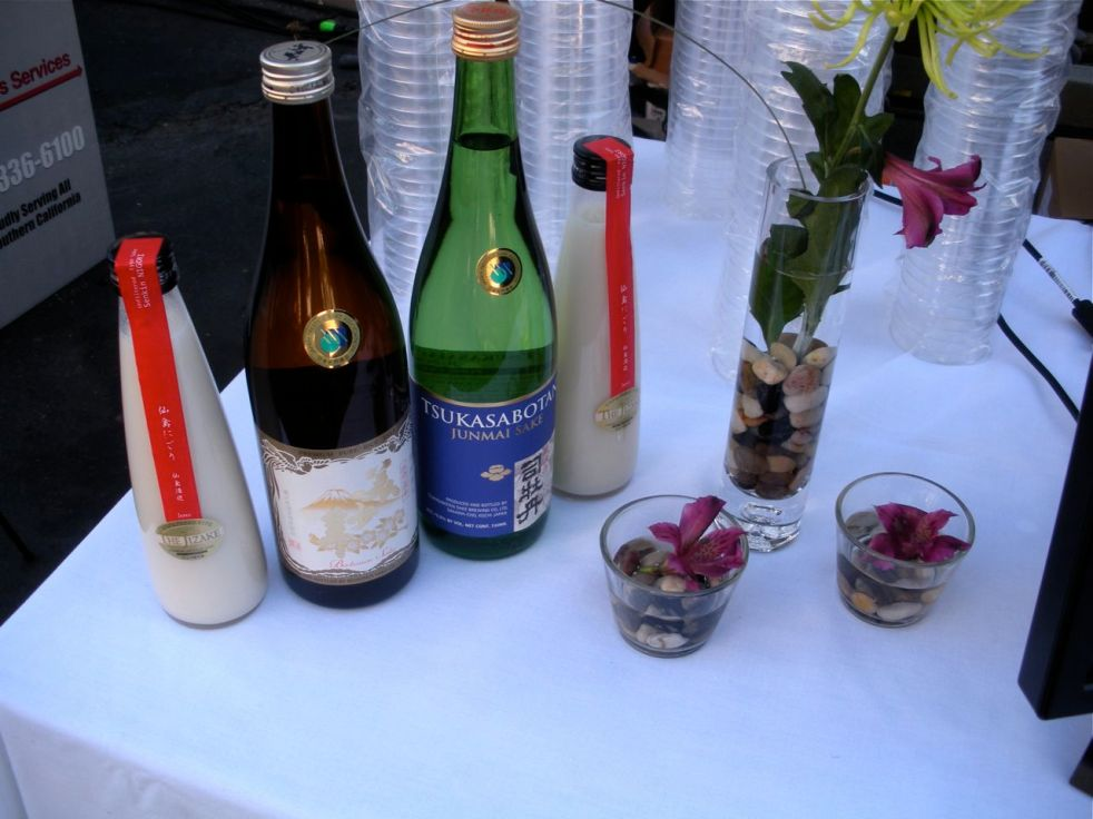 Filtered and unfiltered sake samples from SakeSocial.com