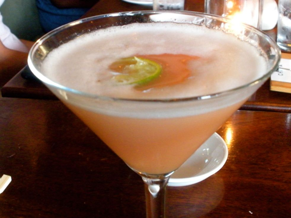 Guava Martini: Chaya infusion, guava juice, sweet & sour and lime