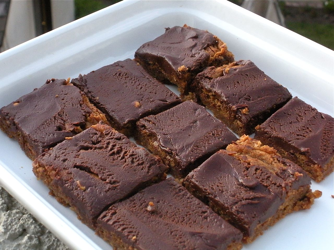 Chocolate pb blondies-Duo Dishes