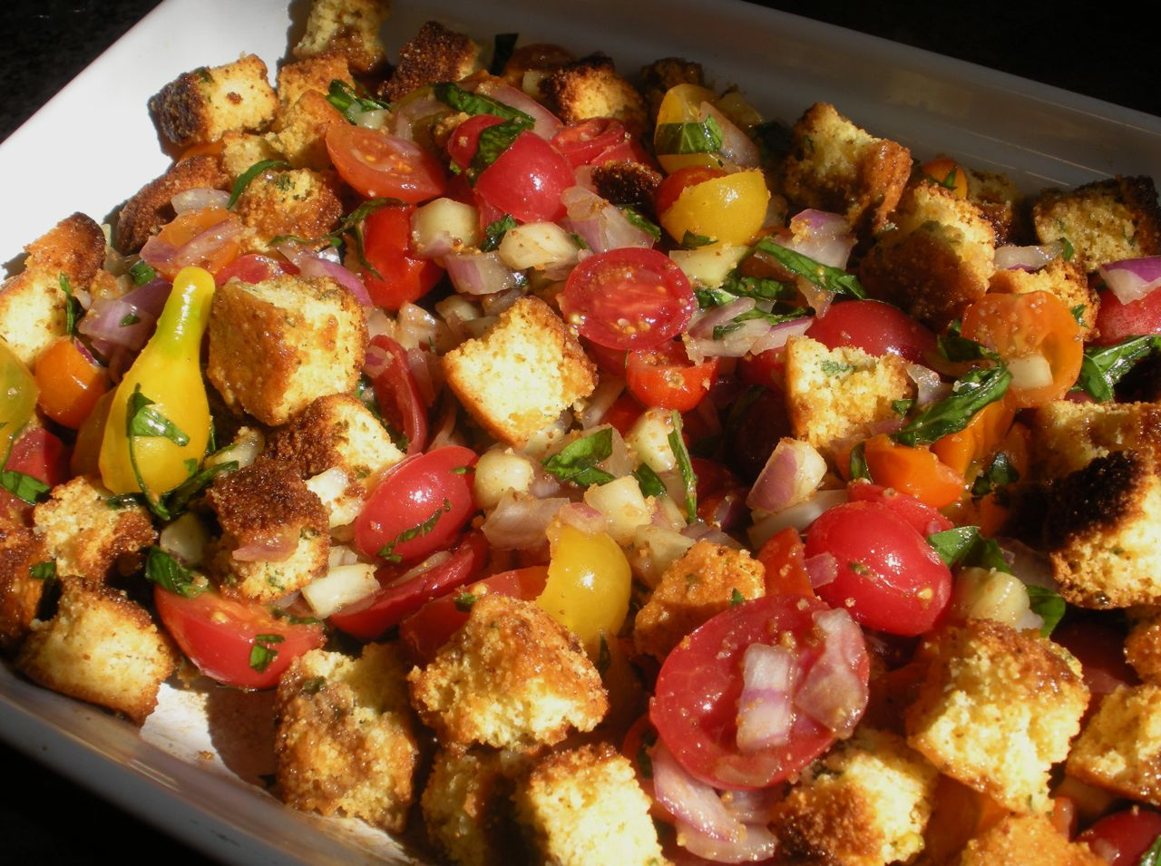 Cornbread Panzanella-Duo Dishes