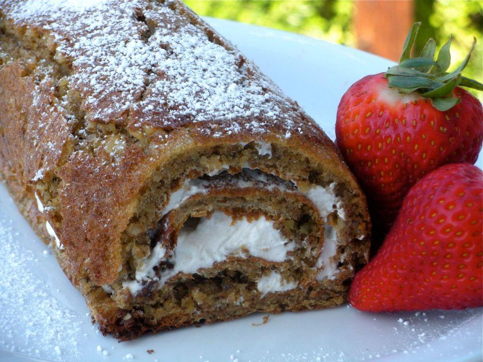 Spiced Walnut & Maple Cream Cake-Duo Dishes