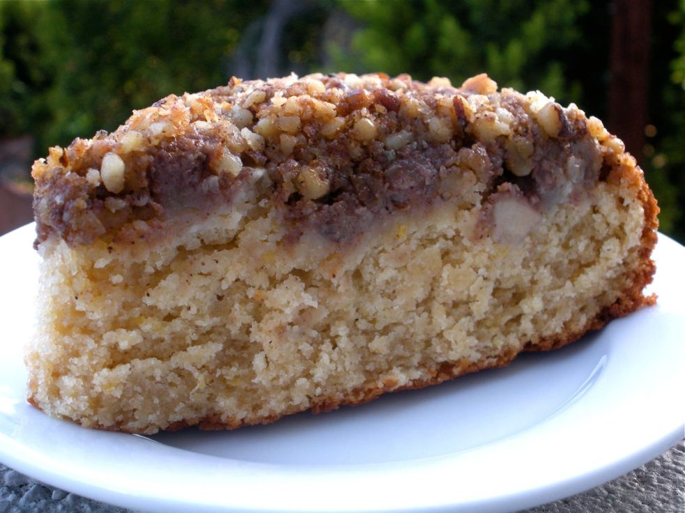 Pear and Walnut Coffee Cake - The Duo Dishes