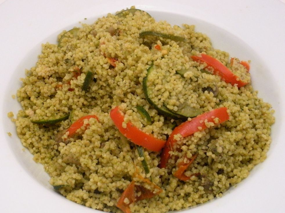 Couscous and Pesto Vegetables-Duo Dishes