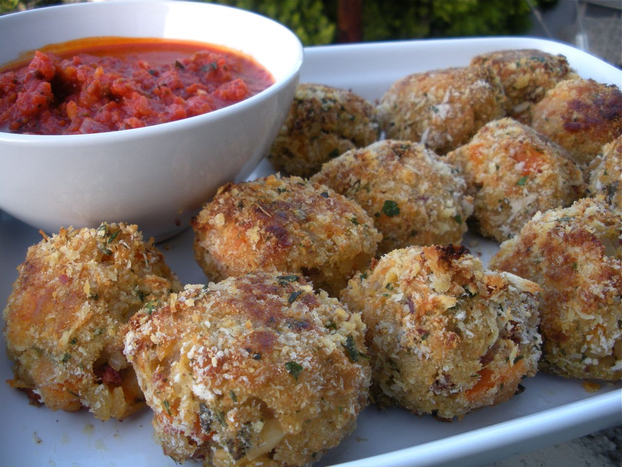 Butternut Squash, Sage, Proscuitto Arancini-Duo Dishes