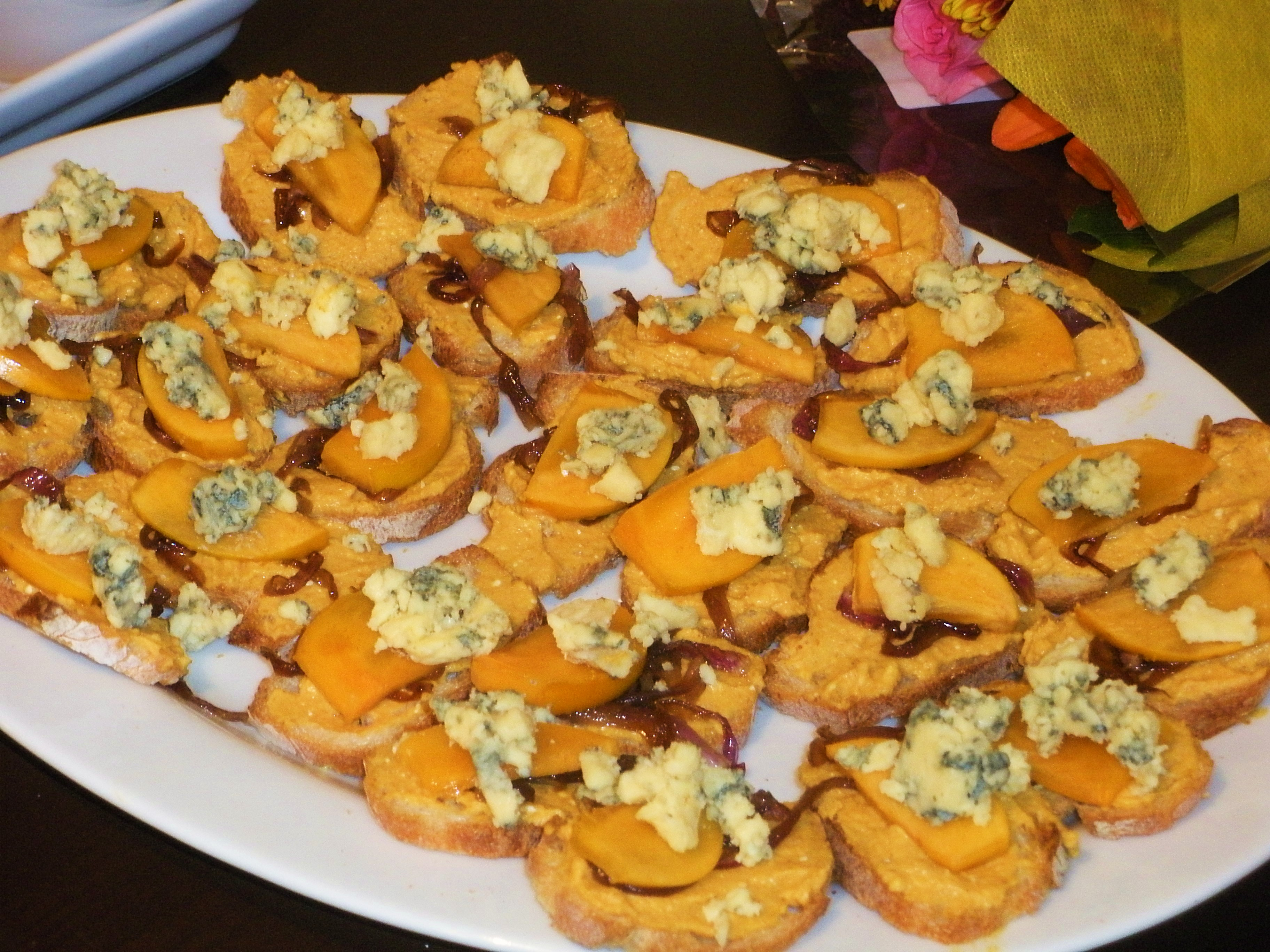 Pumpkin Mascarpone Crostini-Duo Dishes
