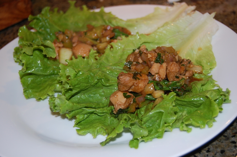 Asian bbq Lettuce Wraps-Duo Dishes