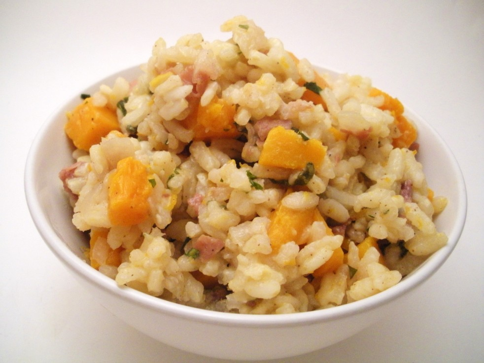 Butternut squash risotto-Duo Dishes
