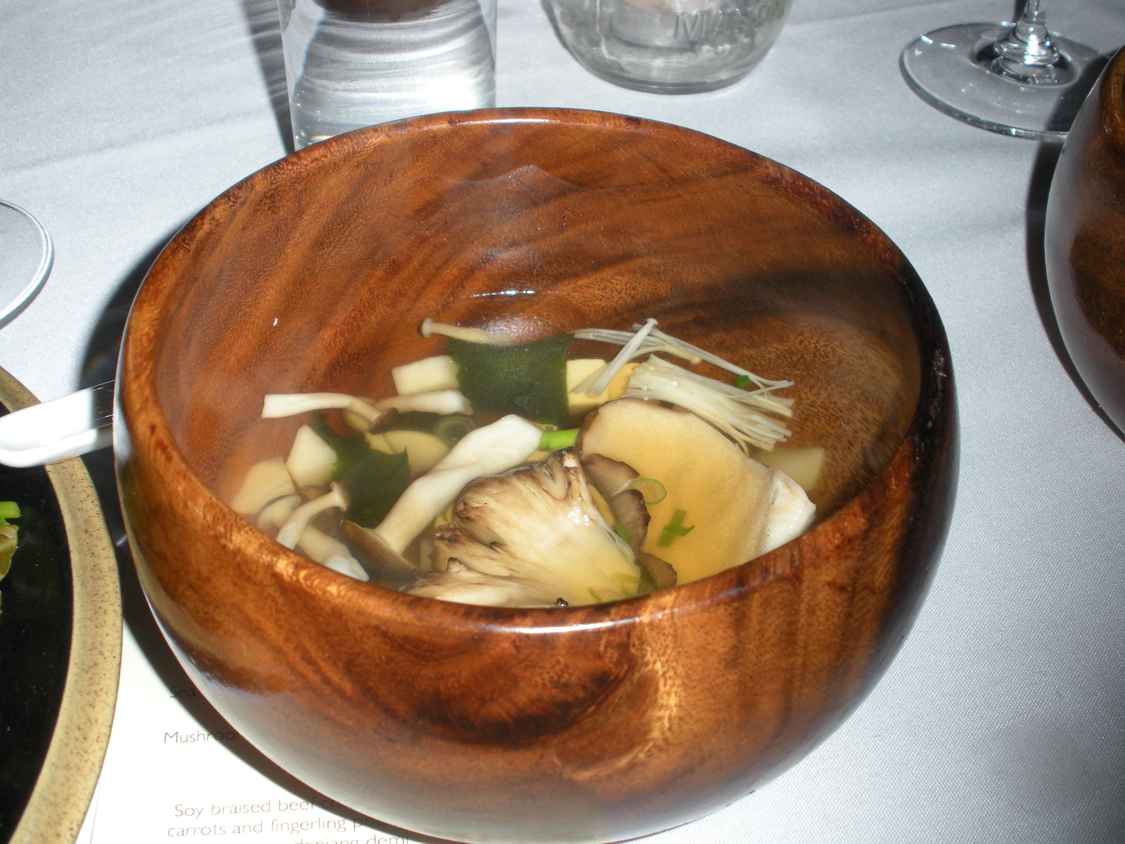 Mushroom dashi-Duo Dishes