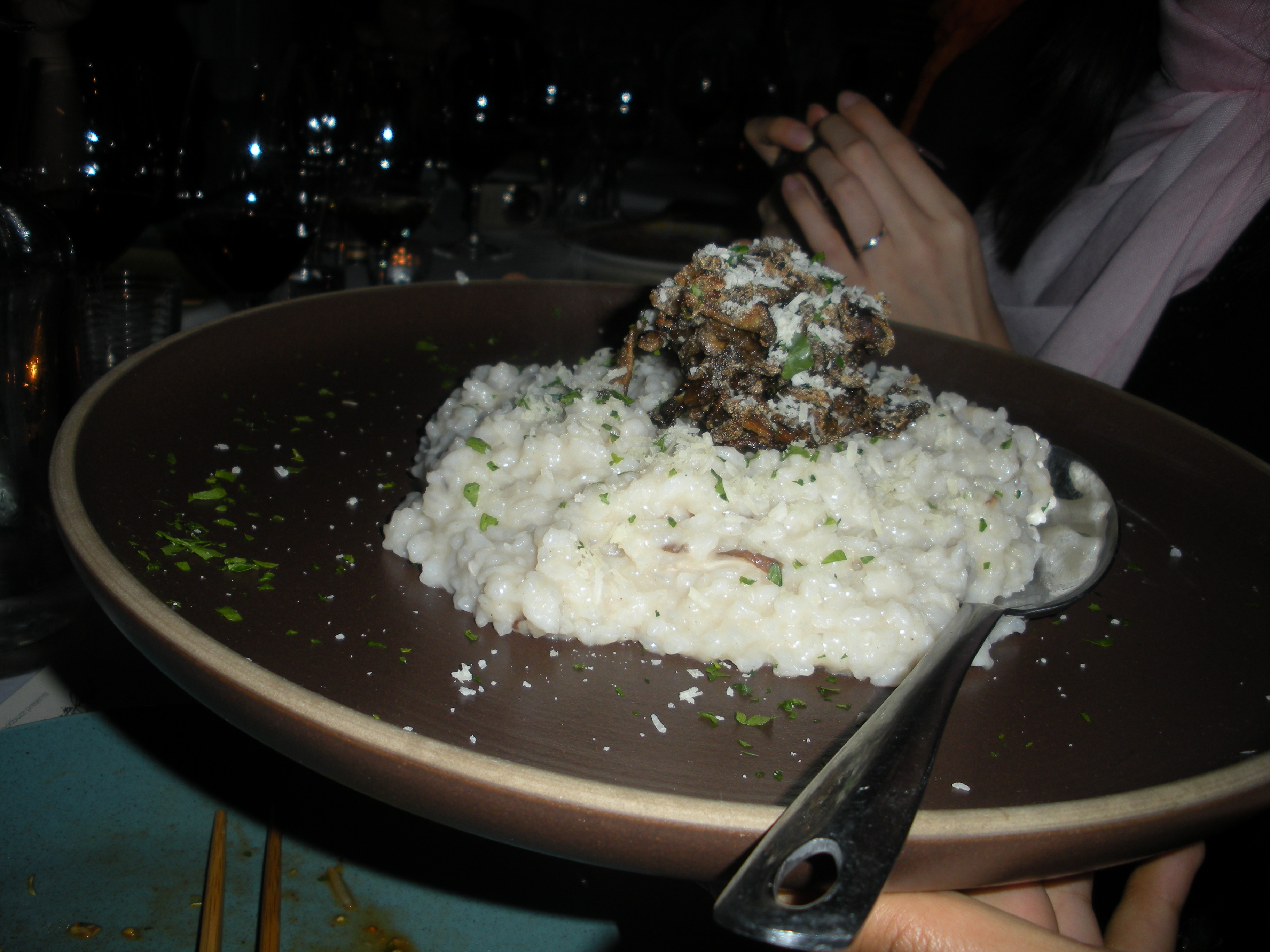 Mushroom risotto-Duo Dishes