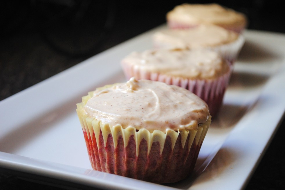 Beet Cupcakes with Cinnamon Ginger Frosting
