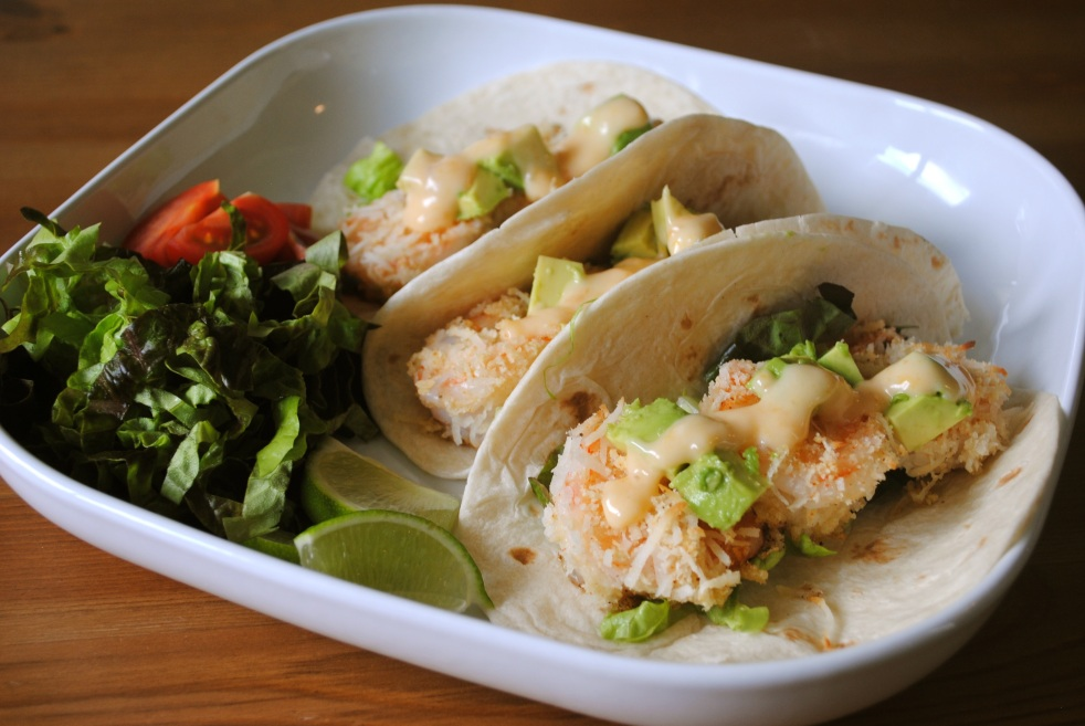 Baked Coconut Shrimp Taco - The Duo Dishes