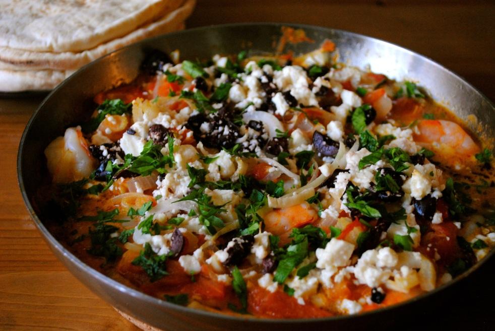 Garides Shrimp Saganaki - The Duo Dishes