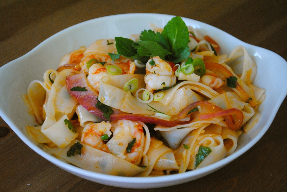Spicy Shrimp with Rice Noodles 2 - The Duo Dishes