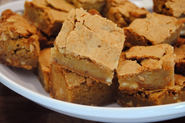 Buttermilk Blondies Cut - The Duo Dishes