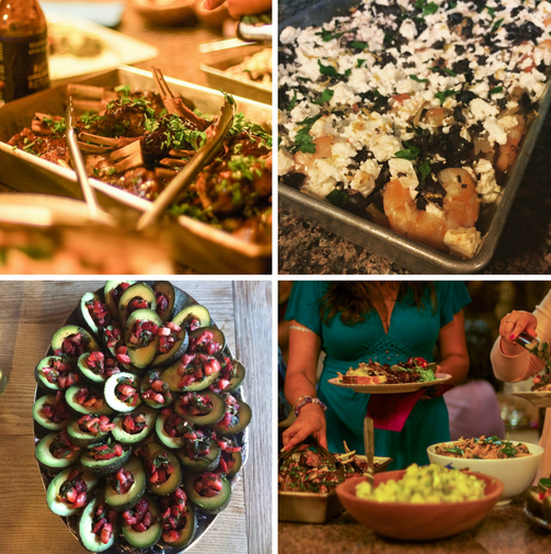 SORTEDFood LA Dinner Party Collage 2 - The Duo Dishes